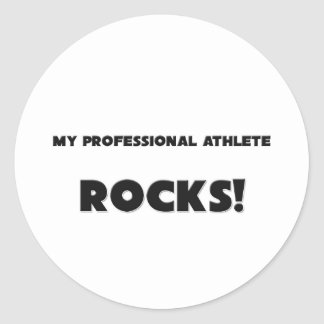 MY Professional Athlete ROCKS! Stickers