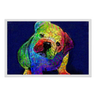 my psychedelic bulldog poster