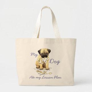 My Pug Ate My Lesson Plan Jumbo Tote Bag