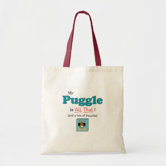 My Puggle is All That! Budget Tote Bag