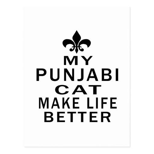 My Punjabi Cat Make Life Better Post Card