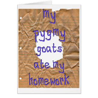 My Pygmy Goats Ate My Homework Greeting Card