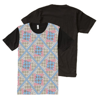 My Ragdoll ~ Twisted Star Block Quilt All-Over Print T-Shirt