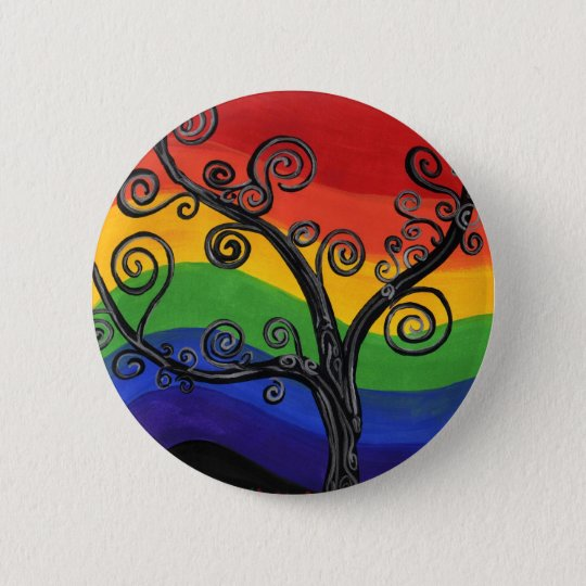 My Rainbow Tree 6 Cm Round Badge