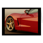 My Red Corvette Greeting Card