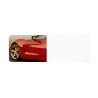 My Red Corvette Return Address Label