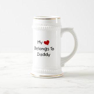 My Red Heart Belongs to Daddy Coffee Mug