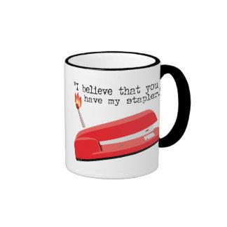 My Red Stapler Mugs