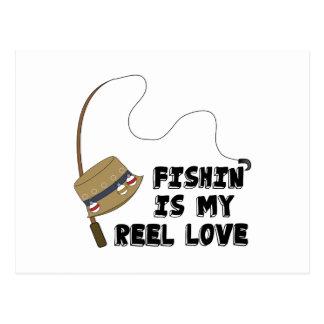 My Reel Love Postcard
