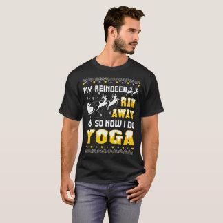 My Reindeer Ran Away So Now I Do Yoga Tshirt
