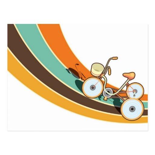 My retro bike postcard