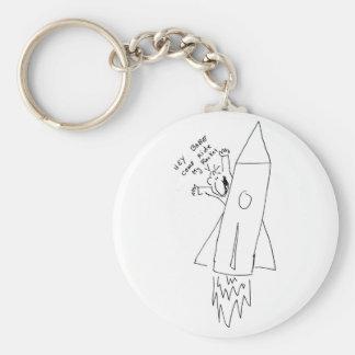 My Rocket Basic Round Button Key Ring