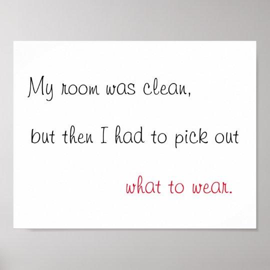 My Room Was Clean Print