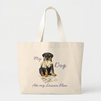 My Rottweiler Ate My Lesson Plan Jumbo Tote Bag