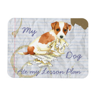 My Russell Terrier Ate My Lesson Plan Magnet