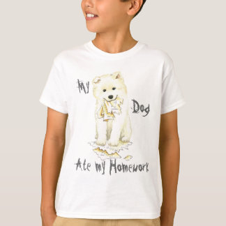 My Samoyed Ate My Homework T-Shirt