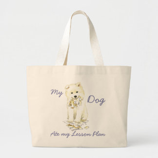 My Samoyed Ate My Lesson Plan Jumbo Tote Bag