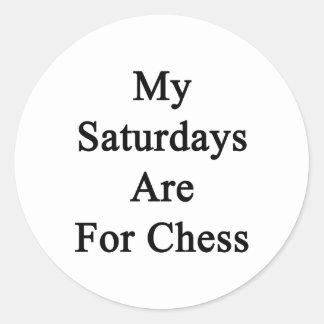 My Saturdays Are For Chess Round Sticker