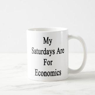 My Saturdays Are For Economics Basic White Mug