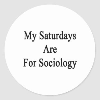 My Saturdays Are For Sociology Stickers