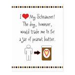 My Schnauzer Loves Peanut Butter