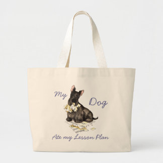 My Scottie Ate My Lesson Plan Jumbo Tote Bag
