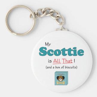 My Scottie is All That! Keychains