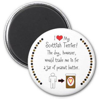 My Scottish Terrier Loves Peanut Butter Magnet