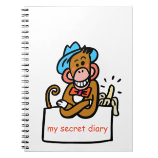 my secret diary monkey cartoon notebook