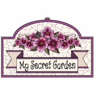 """My Secret Garden"" - Decorative Sign - 09 Standing Photo Sculpture"
