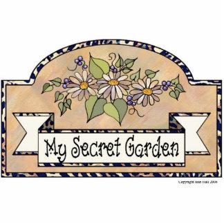 """My Secret Garden"" - Decorative Sign Photo Sculpture Decoration"