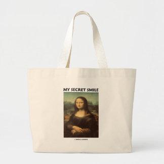 My Secret Smile da Vinci s Mona Lisa Canvas Bags