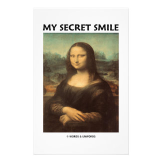 My Secret Smile (da Vinci's Mona Lisa) Stationery Paper