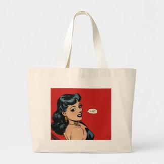 My Secret Story 27 Vintage Comic Good Girl Art Jumbo Tote Bag