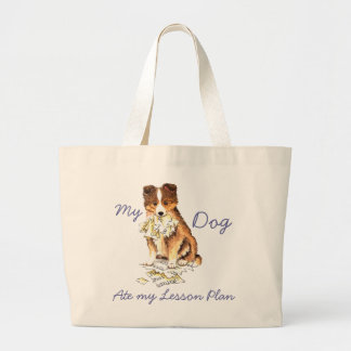 My Sheltie Ate My Lesson Plan Jumbo Tote Bag