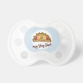 my shy taco funny cartoon baby pacifier