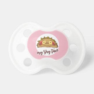 my shy taco funny cartoon pacifier