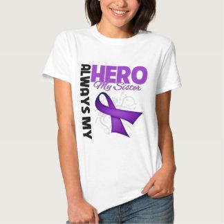 My Sister Always My Hero - Purple Ribbon T-shirts