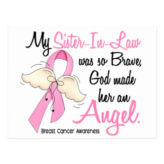 My Sister-In-Law Is An Angel 2 Breast Cancer Postcard