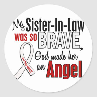 My Sister-In-Law Is An Angel Lung Cancer Round Sticker