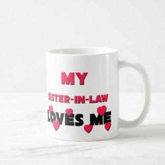 My Sister-in-Law Loves Me Basic White Mug