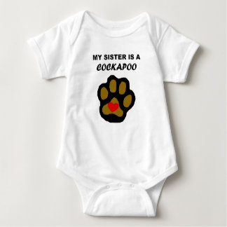My Sister Is A Cockapoo Baby Bodysuit
