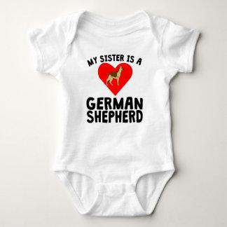My Sister Is A German Shepherd Baby Bodysuit