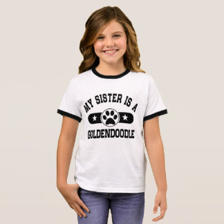 My Sister Is A Goldendoodle Ringer T-Shirt