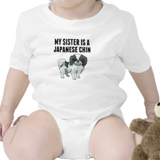 My Sister Is A Japanese Chin Baby Bodysuit