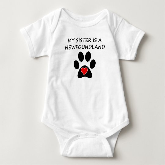 My Sister Is A Newfoundland Baby Bodysuit