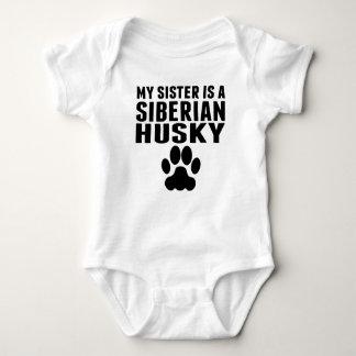 My Sister Is A Siberian Husky Baby Bodysuit