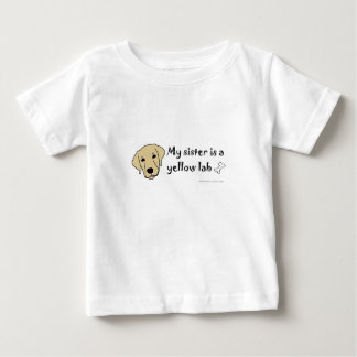 my sister is a yellow lab tees