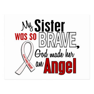 My Sister Is An Angel Lung Cancer Postcard