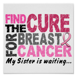 My Sister is Waiting Breast Cancer Poster